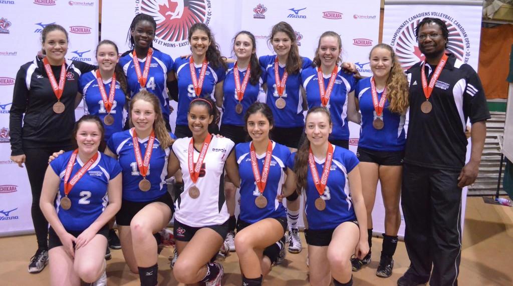 En 2013-2014 les filles ont remporté le bronze au Championnat canadien de l'est!